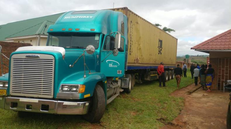 Our 40ft container has arrived in Malawi