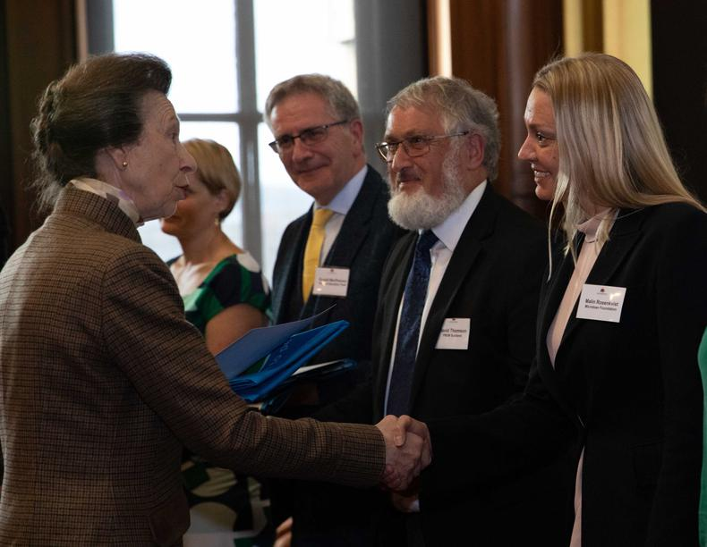HRH the Princess Royal presents MicroLoan with an award