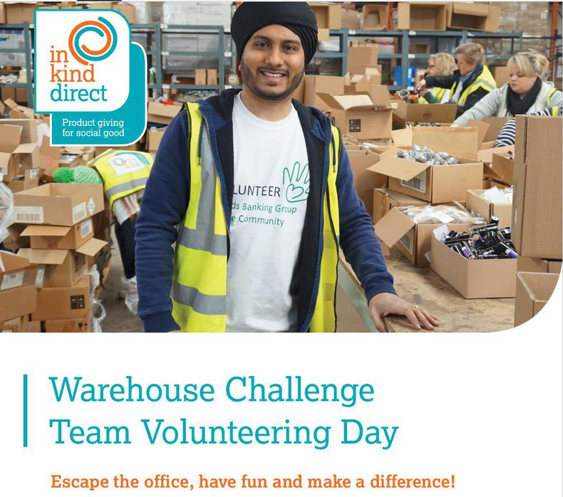 In Kind Direct Warehouse Volunteering Challenge