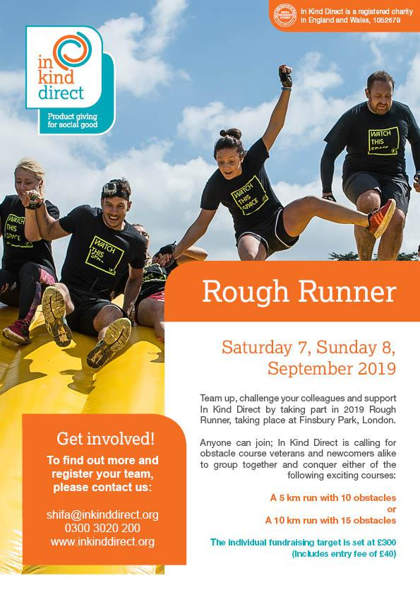 In Kind Direct Sports Fundraising Events 2019 - Rough Runner Team Event