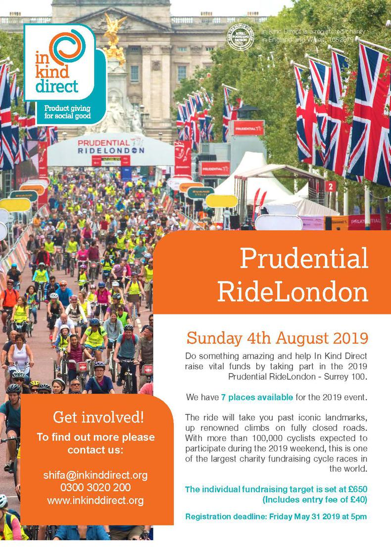 In Kind Direct Sports Fundraising Events 2019 - Prudential RideLondon Surrey-100