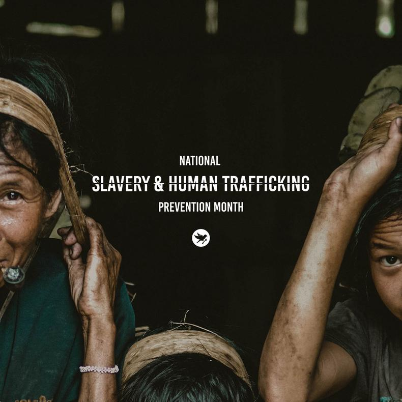Raising awareness as part of National Slavery and Human Trafficking Prevention Month