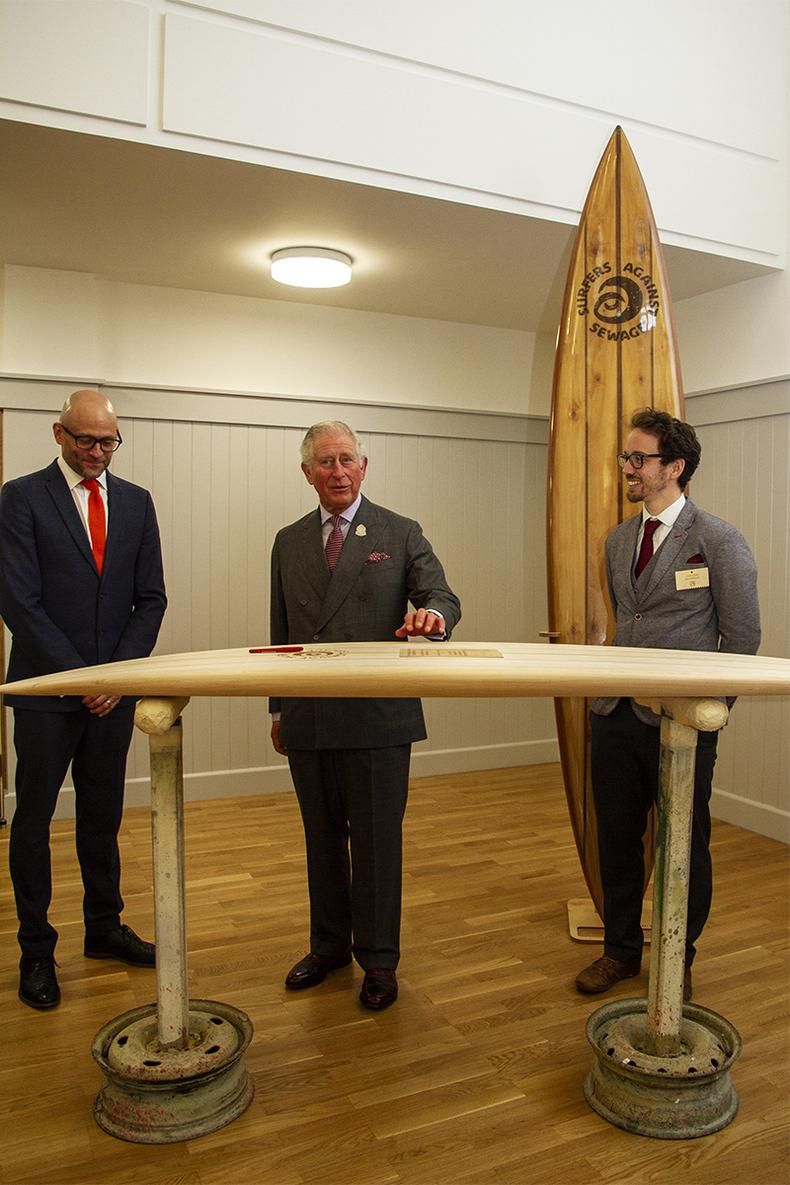His Royal Highness, The Prince of Wales becomes Patron of Surfers Against Sewage as the Charity Celebrates its 30th Anniversary