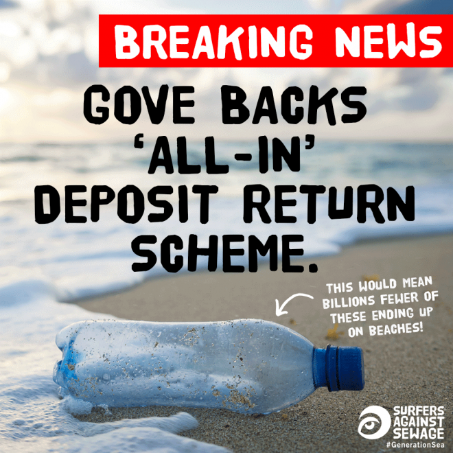 Gove backs 'all-in' deposit return system for drinks containers