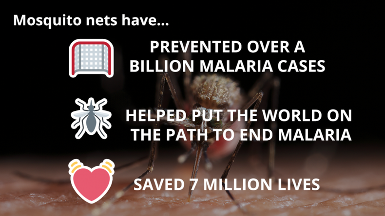 WE'RE CELEBRATING THE 2 BILLIONTH MOSQUITO NET!