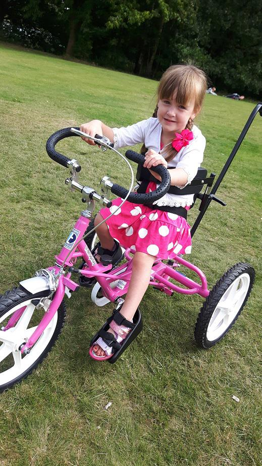 A pink trike for Matilda