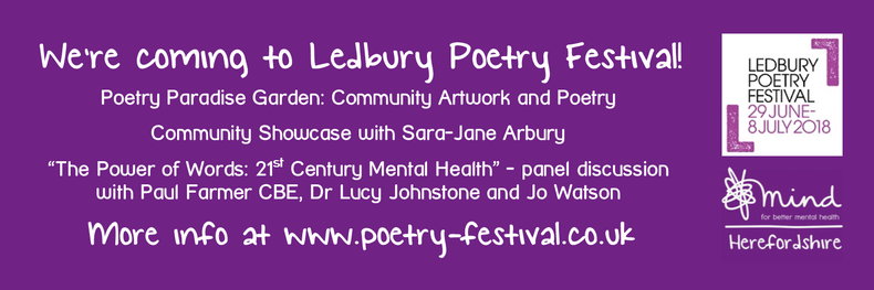 Herefordshire Mind Celebrates it's 40th Birthday in partnership with Ledbury Poetry Festival