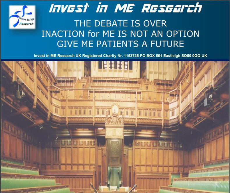 Invest in ME Research Input to Parliamentary Debate on Research into ME