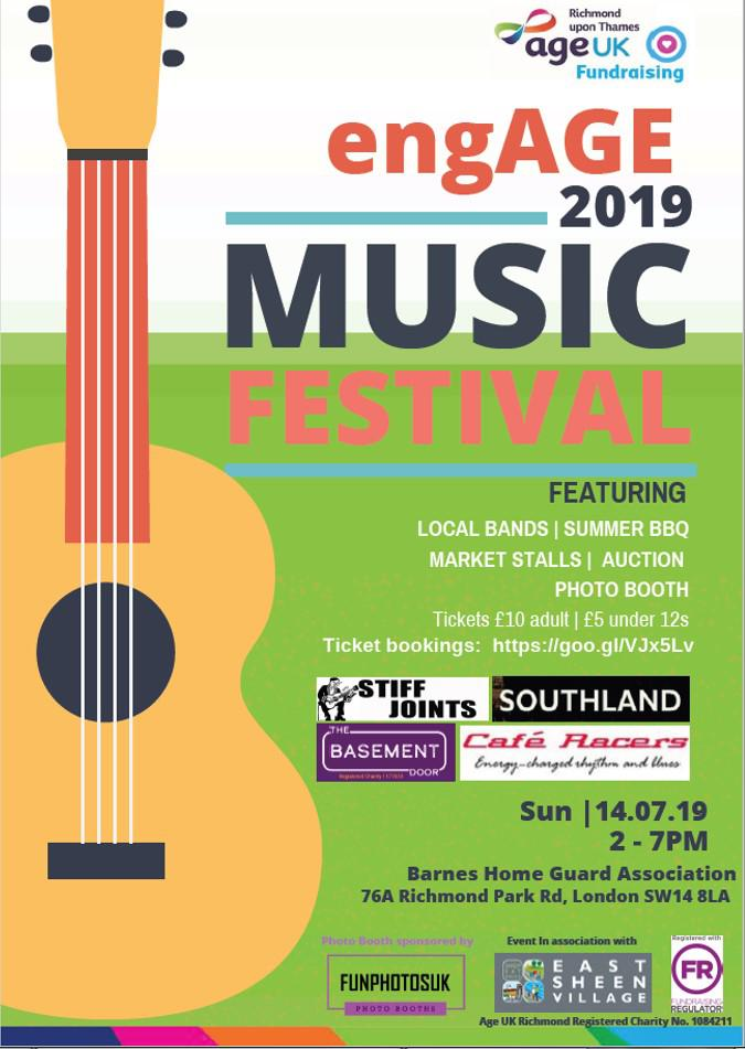 engAGE Music Festival July 2019 - sponsorship opportunity