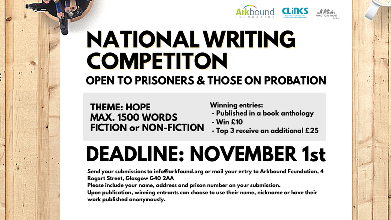 "National Writing Competition ""Hope"" - open to prisoners and those on probation"