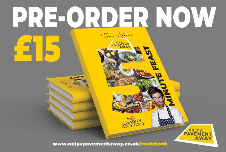 Tom Aikens - Five Minute Feast Charity Cookbook is available to pre-order!