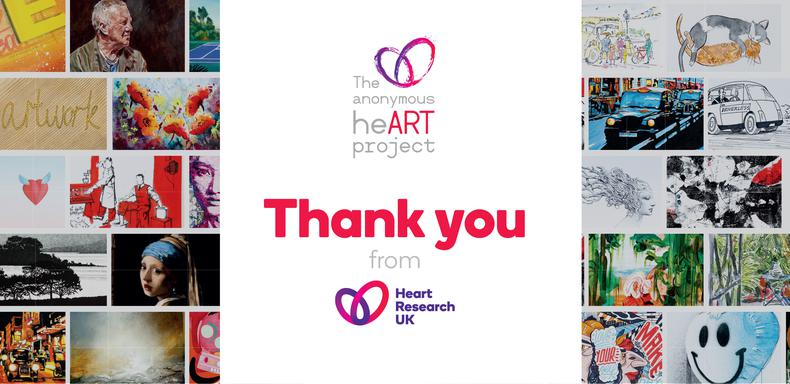 Fundraising record smashed! Anonymous heART project raises over £53,000