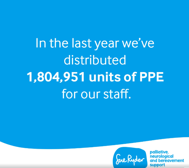 PPE distribution across Sue Ryder
